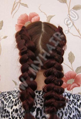 плетение кос видео уроки бесплатно.