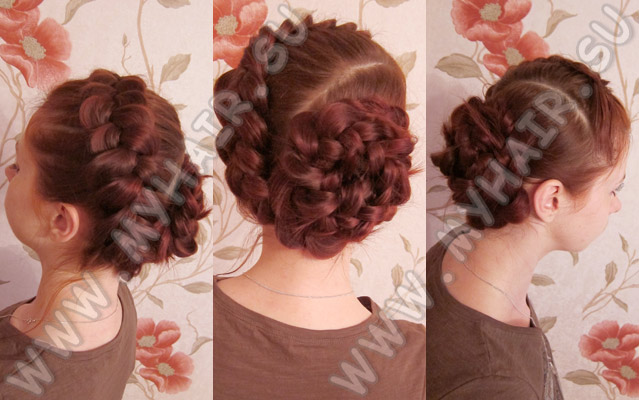 Причёска Обратная коса новые фото