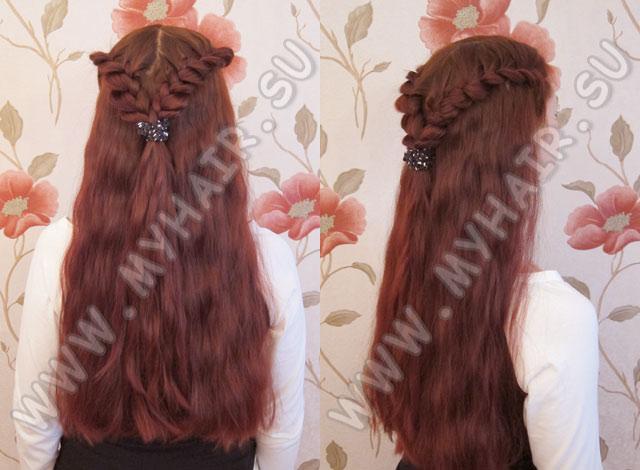 В этом уроке Вы увидите процесс плетения греческой косы.