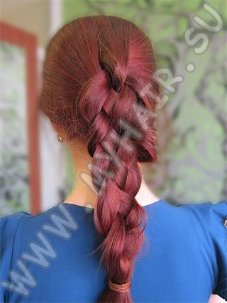 Посмотреть видео как плести косу из 4-х прядей.  Плетение кос из 4х...