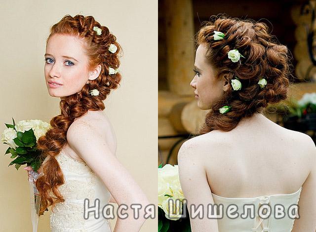 Вечерние и свадебные прически на основе кос.