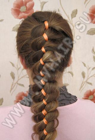 Здесь вы найдете различные техники плетения косичек, варианты крепления лент на волосах, а также идеи причесок...